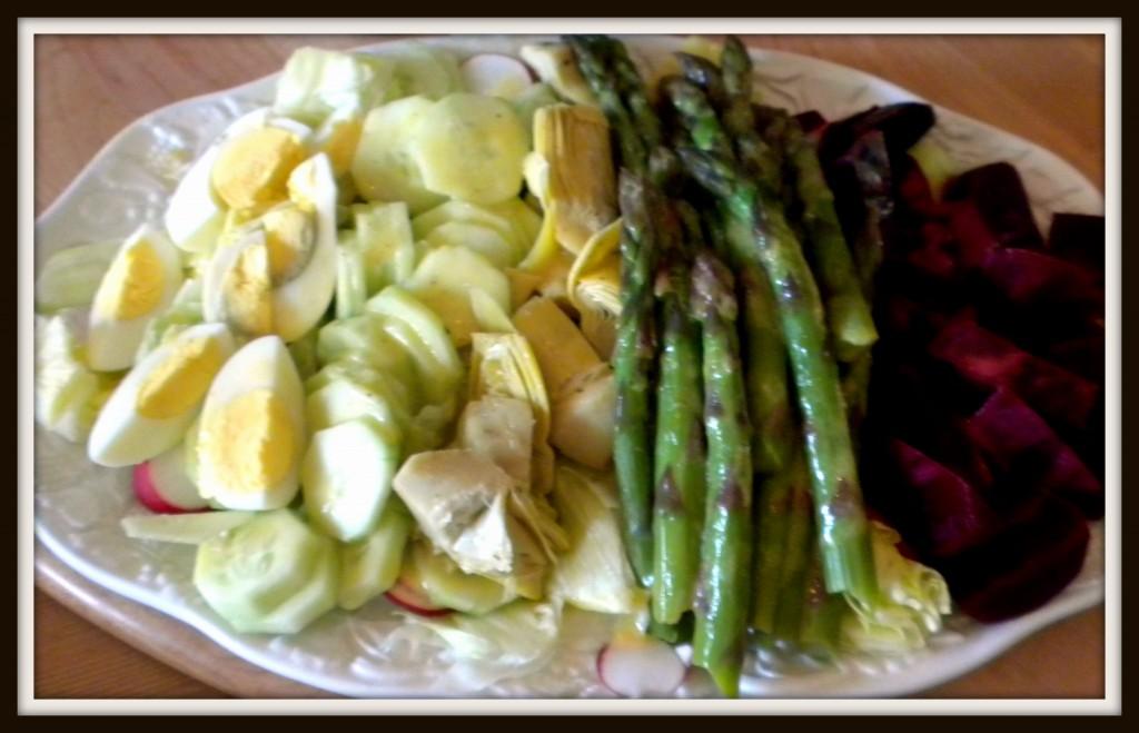 composed salad asparagus